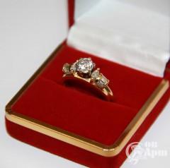 Кольцо-трансформер с бриллиантами